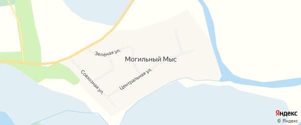 Карта деревни Могильного Мыса в Томской области с улицами и номерами домов