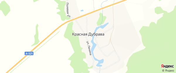 Карта поселка Красной Дубравы в Алтайском крае с улицами и номерами домов