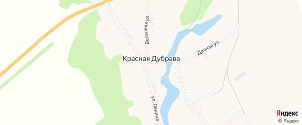 Улица Мира на карте поселка Красной Дубравы с номерами домов