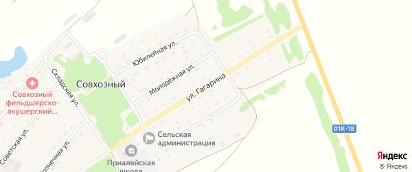 Улица Гагарина на карте Совхозного поселка с номерами домов