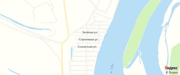 СНТ Кедр на карте поселка Колывани Новосибирской области с номерами домов