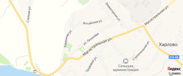 Улица Лихачева на карте села Харлово с номерами домов