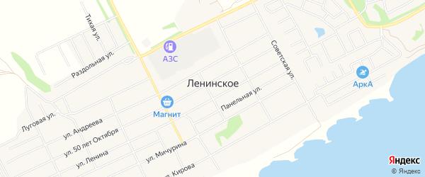 Карта Ленинского села в Новосибирской области с улицами и номерами домов