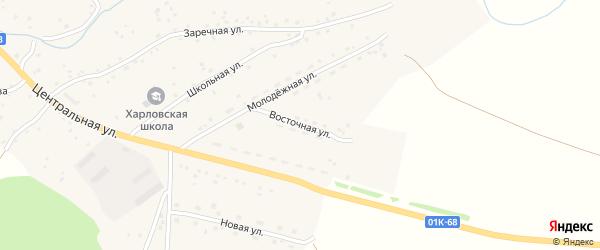 Восточная улица на карте села Харлово с номерами домов