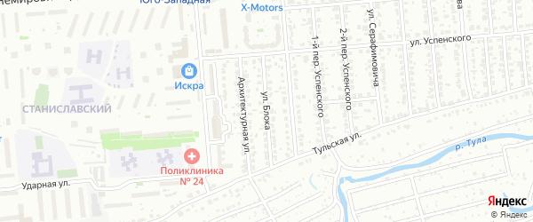 Улица Блока на карте Новосибирска с номерами домов