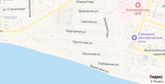 Проточная улица в Колпашево с номерами домов на карте. Спутник и схема онлайн