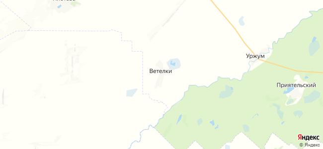 Ветелки на карте