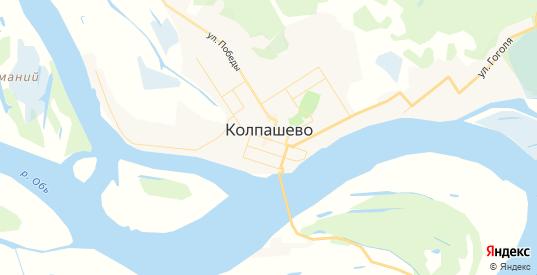 Карта Колпашево с улицами и домами подробная. Показать со спутника номера домов онлайн