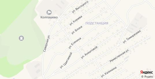 Улица С.Есенина в Колпашево с номерами домов на карте. Спутник и схема онлайн