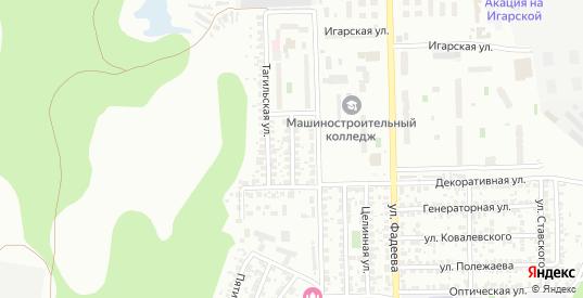 Карельская улица в Новосибирске с номерами домов на карте. Спутник и схема онлайн