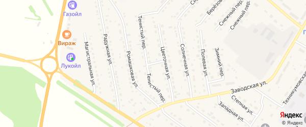 Тенистый переулок на карте села Павловска с номерами домов