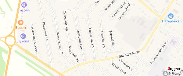 Солнечная улица на карте села Павловска с номерами домов