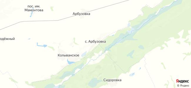 Арбузовка на карте