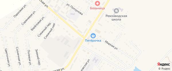 Заводская улица на карте поселка Сдт Шинник-2 с номерами домов
