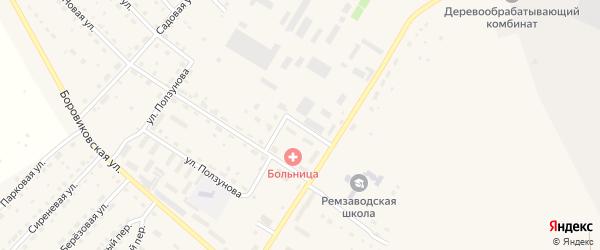 Первомайская улица на карте села Павловска с номерами домов