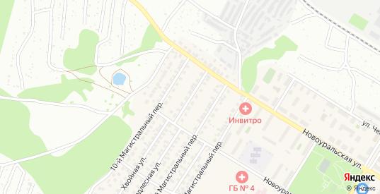 9-й Магистральный переулок в Новосибирске с номерами домов на карте. Спутник и схема онлайн