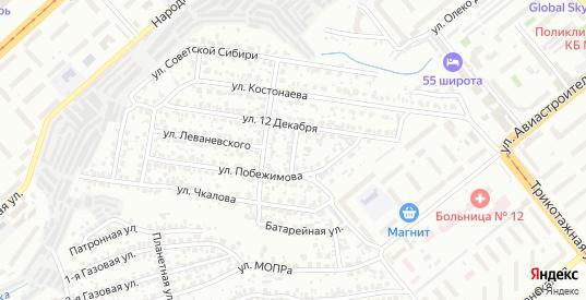 Улица Годовикова в Новосибирске с номерами домов на карте. Спутник и схема онлайн