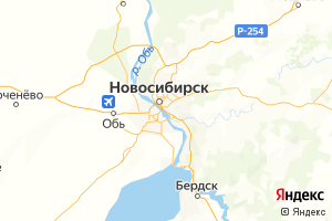Карта г. Новосибирск Новосибирская область