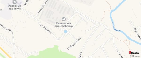 Улица Маяковского на карте села Павловска с номерами домов