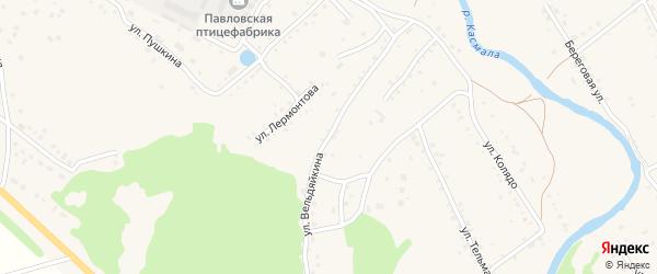 Улица Вельдяйкина на карте села Павловска Алтайского края с номерами домов