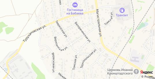 Верхоянская улица в Новосибирске с номерами домов на карте. Спутник и схема онлайн