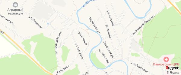 Карта села Павловска в Алтайском крае с улицами и номерами домов