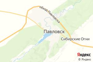 Карта с. Павловск Алтайский край