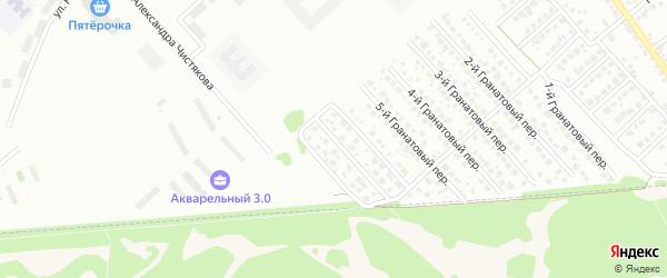 7-й Гранатовый переулок на карте Новосибирска с номерами домов