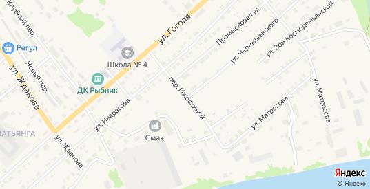 Е.Ижовкиной переулок в Колпашево с номерами домов на карте. Спутник и схема онлайн
