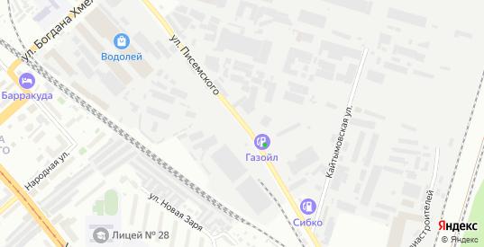 Улица Писемского в Новосибирске с номерами домов на карте. Спутник и схема онлайн