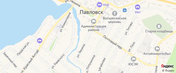 Улица Ленина на карте села Павловска с номерами домов