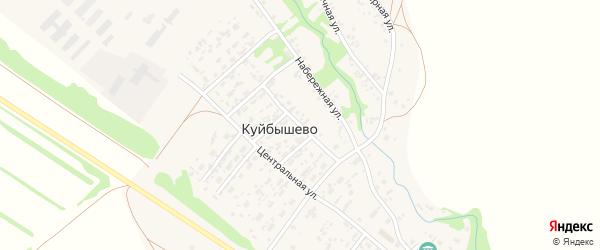 Зеленый переулок на карте села Куйбышево Алтайского края с номерами домов