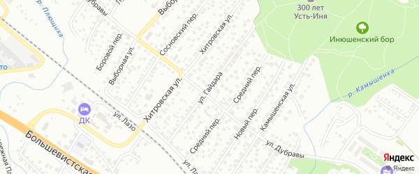 Территория п/л им Гайдара на карте Новосибирска с номерами домов