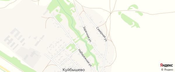 Заречная улица на карте села Куйбышево Алтайского края с номерами домов