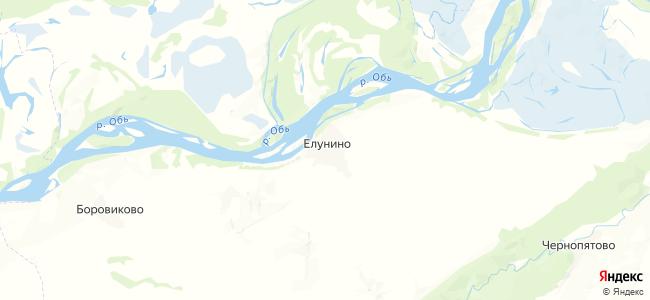 Елунино на карте