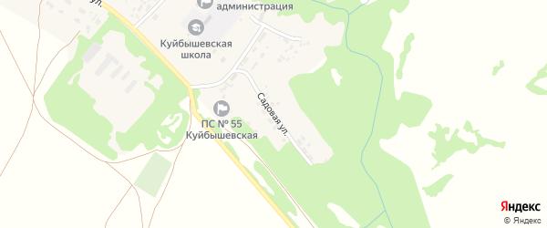 Садовая улица на карте села Куйбышево Алтайского края с номерами домов