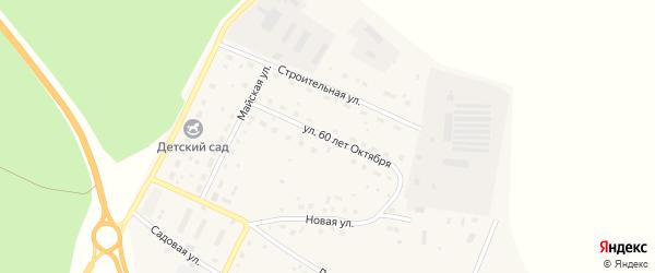 Улица 60 лет Октября на карте поселка Сибирские Огни с номерами домов