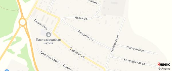 Лазурная улица на карте поселка Сибирские Огни с номерами домов