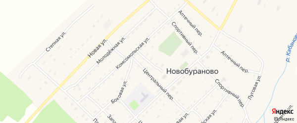 Почтовый переулок на карте села Новобураново с номерами домов