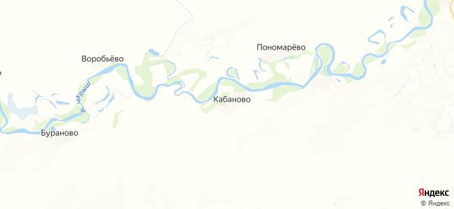 Кабаново на карте