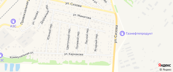 Лесной переулок на карте села Топчихи с номерами домов