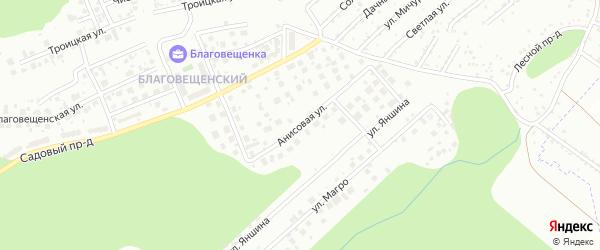 Анисовая улица на карте Новосибирска с номерами домов