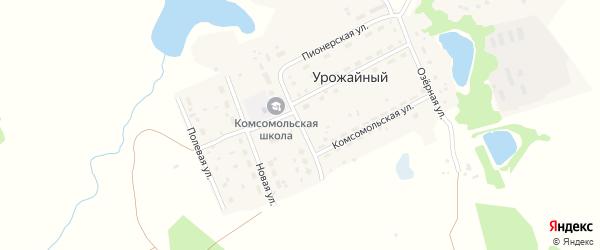 Школьная улица на карте Урожайного поселка с номерами домов