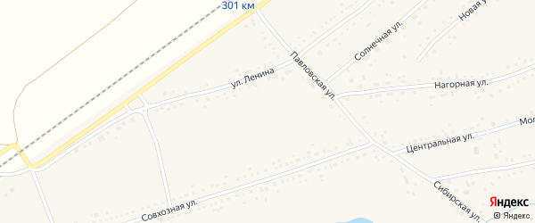 Молодежная улица на карте Черемного села с номерами домов