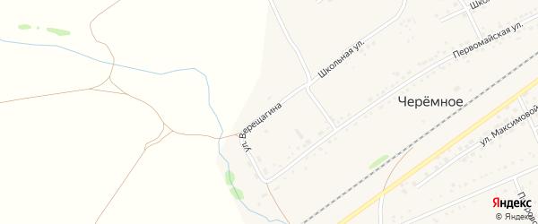 Улица Верещагина на карте Черемного села Алтайского края с номерами домов