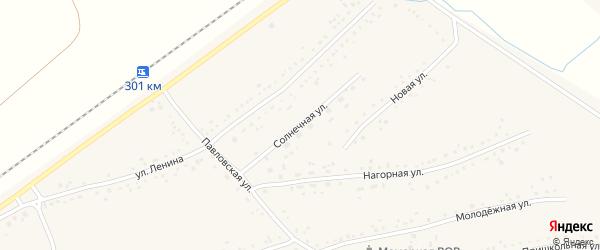 Солнечная улица на карте Черемного села Алтайского края с номерами домов