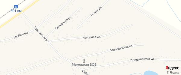 Нагорная улица на карте Черемного села Алтайского края с номерами домов
