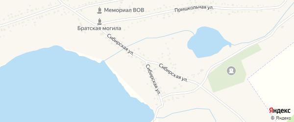 Сибирская улица на карте Черемного села с номерами домов