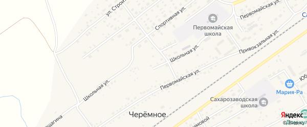 Школьная улица на карте Черемного села Алтайского края с номерами домов