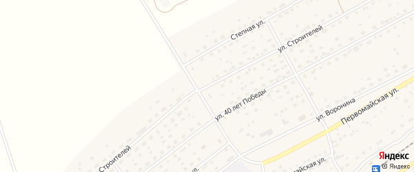 Улица Строителей на карте Черемного села Алтайского края с номерами домов